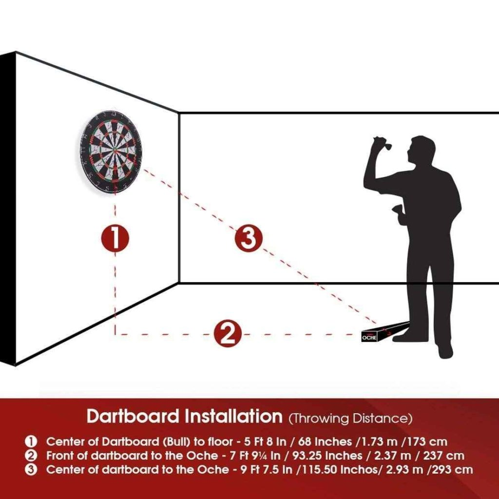 dartboard hight and distance