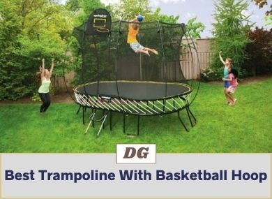 Best Trampoline With Basketball Hoop And Slide