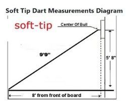 soft tip dart board measurements