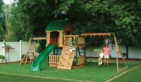Artificial Grass Or Turf For Swing Set