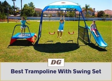 Trampoline With Swing Set